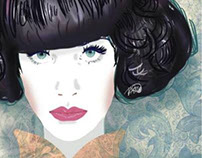 Vector Portrait: Kimbra and patterns