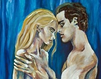 Figurative Couple Painting - The Seduction
