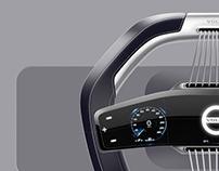 Volvo Steering Wheel Doodle