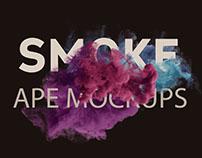 Free Smoke Scene Mockup PSD