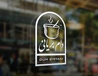 """"""" Dum Biryani """" Logo Design"""