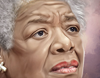 Maya Angelou Digital Art by Wayne Flint