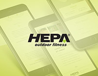 Hepa outdoor fitness - website redesign