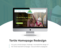 Tortle Homepage Redesign