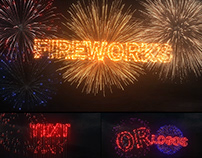 Fireworks Text & Logos in After Effects