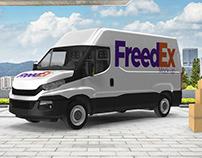 Free Mock-Up Van Cargo - 2019