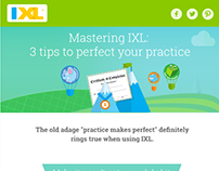 IXL email designs