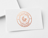 Free Metallic Foil Logo Mockup