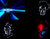 Blink Skull - VJ Loop Pack (4in1)