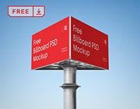 Free Triple Billboard Mockup
