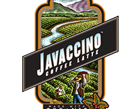 Javaccino Coffee Late Labels created by Steven Noble