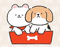 LINE Stickers - Beagle and Pomeranian