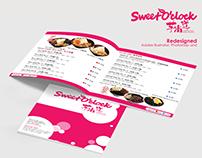 Sweet O'Clock Menu Design