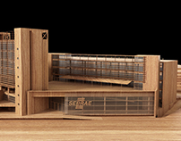 wood architectural model