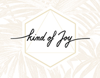 "Visual identity for my own brand ""Kind of Joy"""