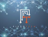 piezotech logo design, a tech company