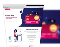 MILLENIUM BANK KONTO 360 - Proposal Landing page UI/UX