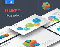 Linked – Free business infographic for powerpoint