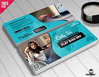Online Shopping Gift Voucher Free PSD