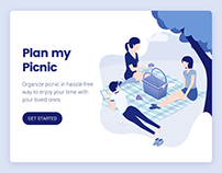 Plan my picnic landing page illustration