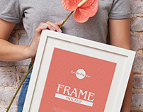 Free Girl Showing PSD Frame Mockup Design