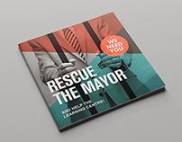 Rescue The Mayor Campaign - Brochure Design