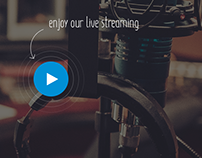 Reklama Radio Website UI/UX Design