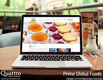 Website for Prime Global Foods Group