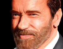 Arnold Schwarzenegger Digital Portrait