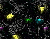 Fireflies & Glowing Mushrooms