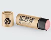 Lip Balm Mockup PSD TIFF
