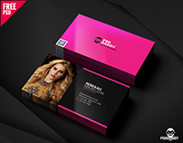Fashion Designer Business Card Free PSD