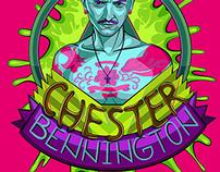Chester Bennington Vector Illustration