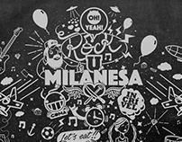 Dale! Milanesa - Ilustração Vetorial