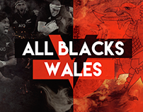 All Blacks V Wales test match advertising