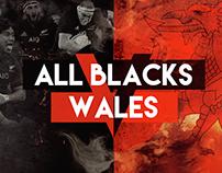All Blacks V Wales test match advertising
