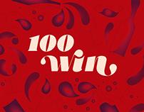 100 wines—brand identity