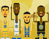 GoldenState Warriors Rebranding + Identity Design