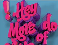 Candy Script 3D Poster