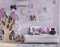 Pink children's room for a little girl. (2017)