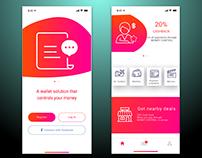 MONEY CONTROL Payments app Concept