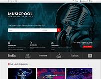 Website Layout -Musicpool
