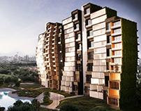 Modular building. Concept. Ukraine.