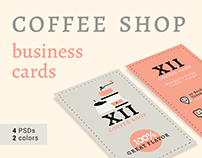Coffee Shop Business Cards Templates