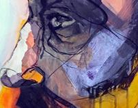 combined technique on canvas