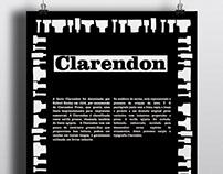 Cartaz Tipográfico: Clarendon