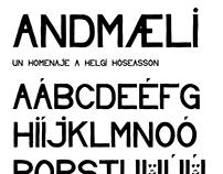 Andmæli Typeface