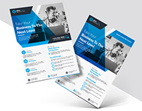 Professional Clean and Modern Corporate Flyer Design