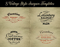 8 Free Vintage Insignia Templates