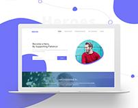 Medical website layout